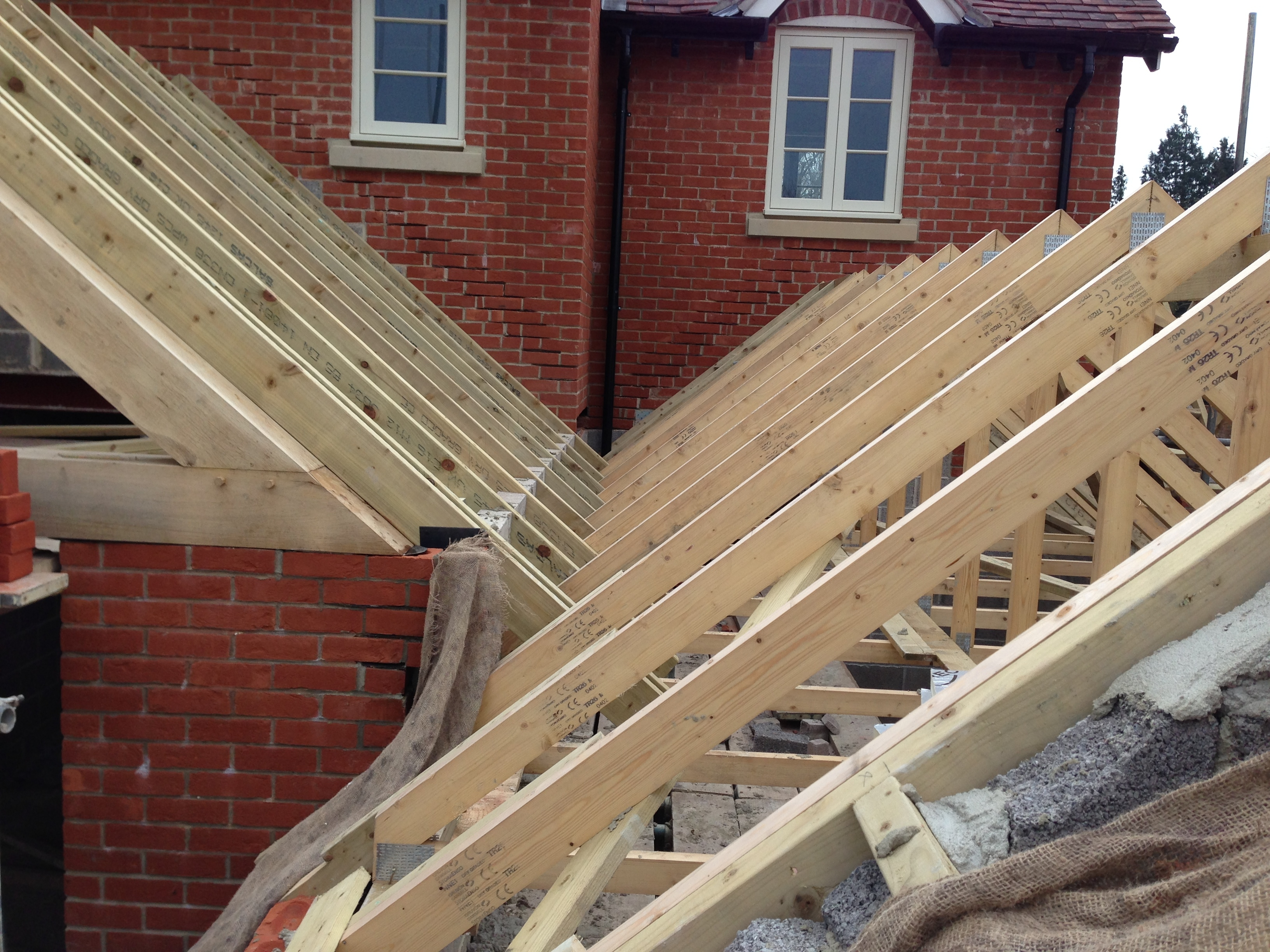 Low Level Roofs At Bmp Site Box Gutter Gtf Carpentry