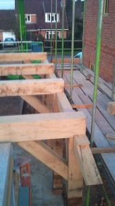 Scarf joint for extended ringbeam